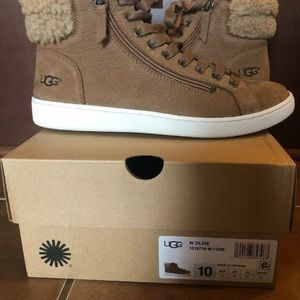UGG 'Olive' Suede Ankle Sneaker Boot